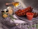 Рецепта Бавно печени крехки свински ребра на фурна с мед, горчица и кетчуп